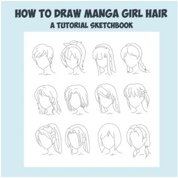 best anime hair drawing books